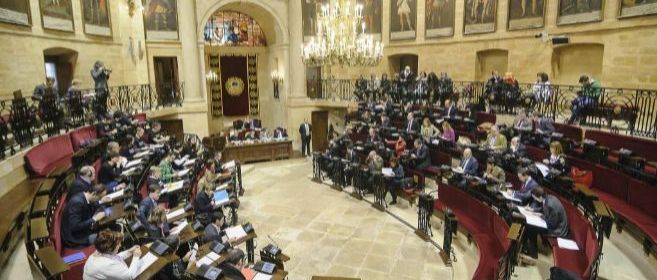 Pleno de Juntas Generales en Gernika.