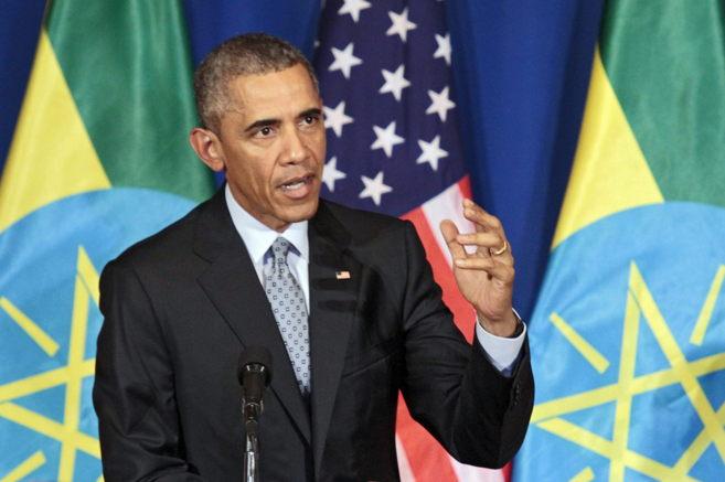 El presidente de EEUU, Barack Obama, en una rueda de prensa en el...