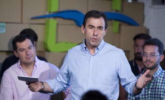 Martinez-Maíllo durante un acto de Nuevas Generaciones en Sevilla el...
