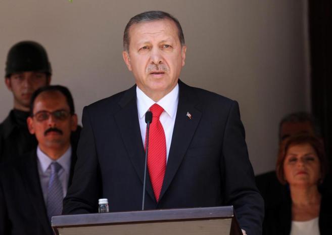 El presidente turco, Recep Tayyip Erdogan, en una rueda de prensa.