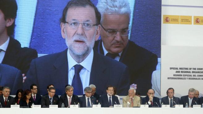 Mariano Rajoy durante su intervención en la cumbre del Comité contra...