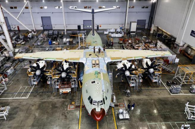 Proceso de fabricación de un Airbus militar en Sevilla