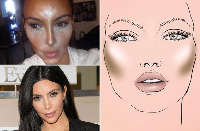 Kim Kardashian es la reina del 'contouring', una técnica de...