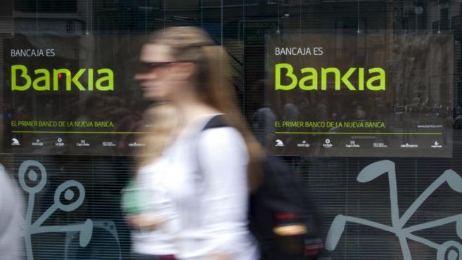 Escaparate de una sucursal de Bankia