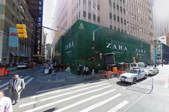 La tienda que Zara está restaurando en el distrito de Broadway.
