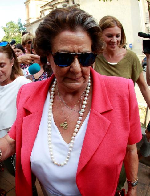 Rita Barberá, ayer.
