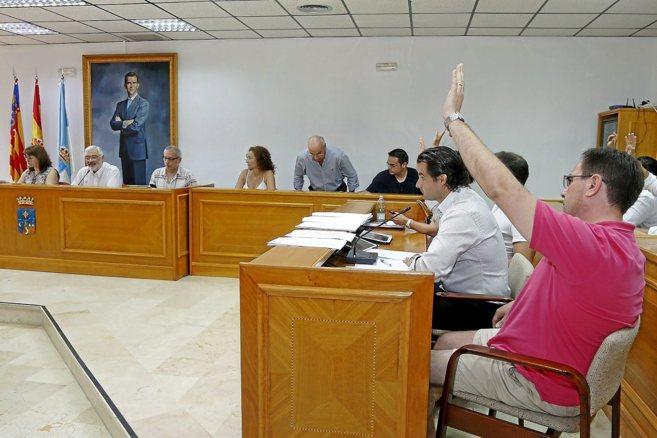 Imagen del pleno extraordinario celebrado ayer en el ayuntamiento de...