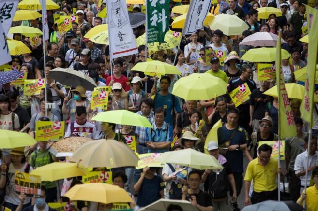 Manifestación Pro-democracia en las calles de Hong Kong