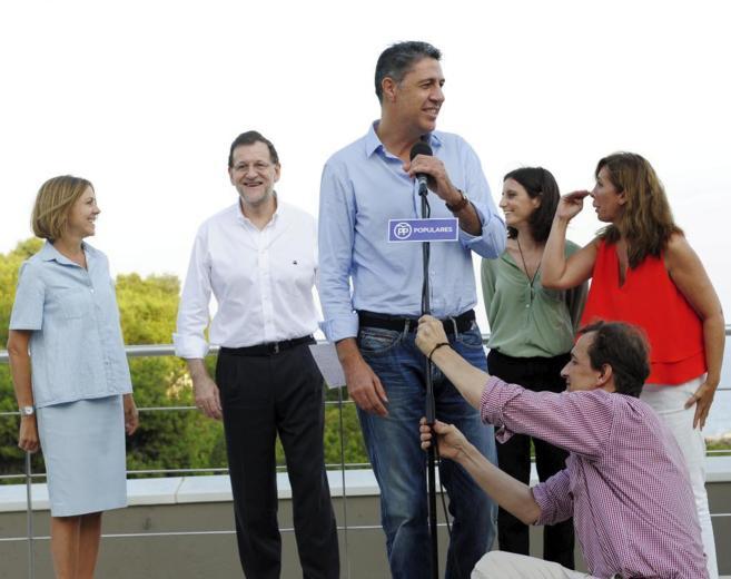 Mariano Rajoy con Xavier García Albiol, Cospedal, Levy y...