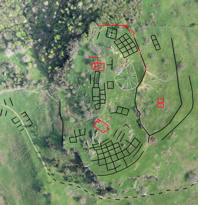 Imagen aérea del yacimiento de Tusculum. EEHA-CSIC