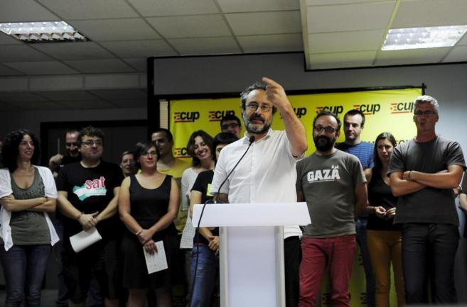 Baños, en la rueda de prensa de presentación de la candidatura