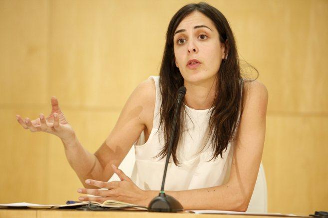 Rueda de prensa de Rita Maestre en el Ayuntamiento de Madrid.