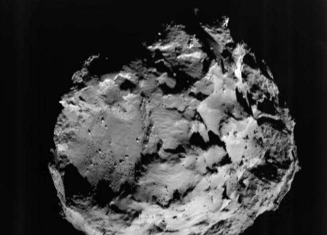 El cometa 67P, fotografiado por la sonda Rosetta.