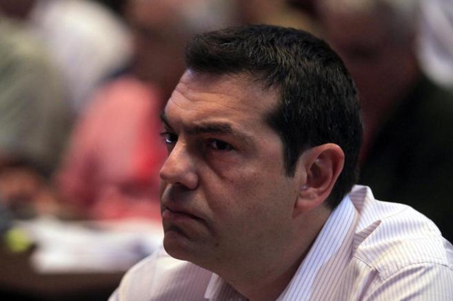 El primer ministro griego, Alexis Tsipras, asiste al Comité Central...