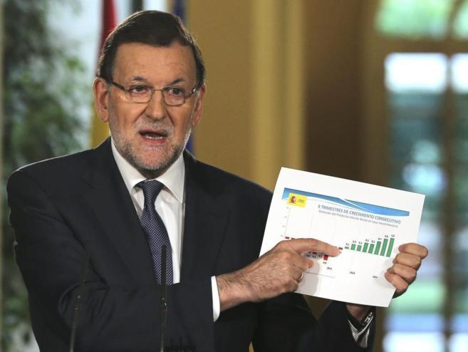 El presidente del Gobierno, Mariano Rajoy, hace balance de su...