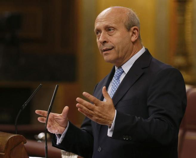 José Ignacio Wert, en una intervención reciente en el Congreso.