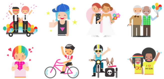 Facebook lanzó 28 nuevos emoticonos para celebrar el día del orgullo...
