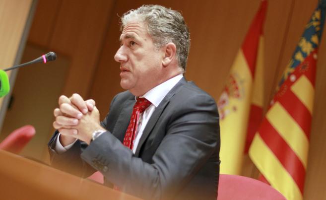El decano de los jueces de Valencia, Pedro Viguer, durante la...