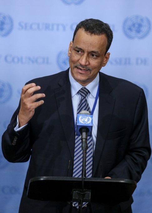 Ismail Uld Sheij Ahmed,  en una conferencia de la ONU en Nueva York
