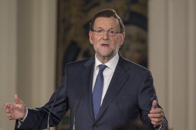 Mariano Rajoy durante la rueda de prensa tras el Consejo de Ministros...
