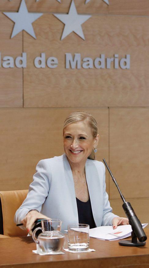 Cristina Cifuentes, presidenta regional, en la rueda de prensa de...