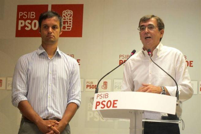 Pablo Martín y Francesc Antich en la rueda de prensa celebrada este...