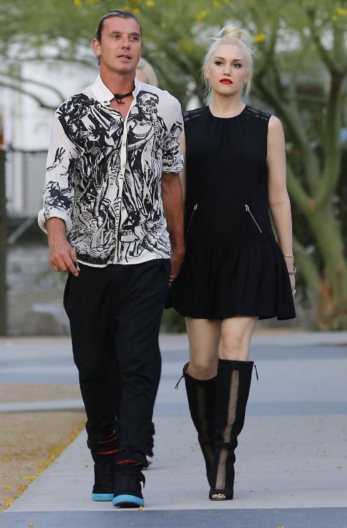 <strong>Gwen Stefani (45) y Gavin Rossdale (49):</strong> Las...