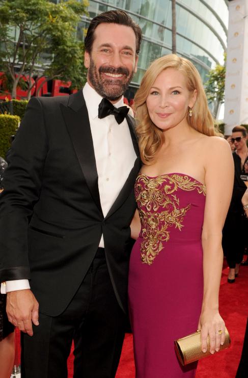 <strong>Jon Hamm (44) y Jennifer Westfeldt (45):</strong> La pareja...