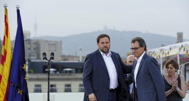 Oriol Junqueras junto al President de la Generalitat, Artur Mas