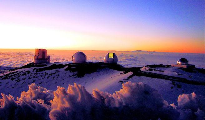 El observatorio de Mauna Kea en Hawái.