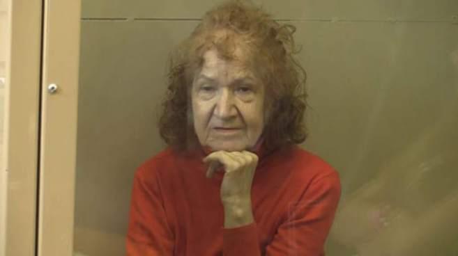 La rusa Tamara Samsonova tras ser detenida.