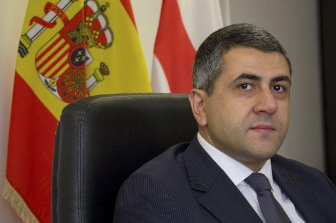 Zurab Pololikashvili, en la Embajada de Georgia en Madrid.