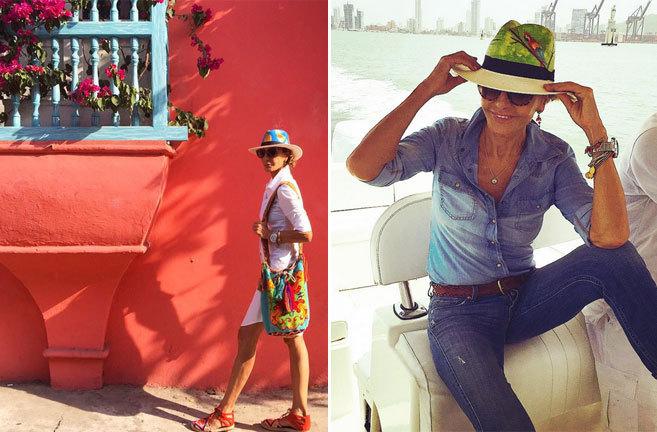 Naty Abascal, en dos imágenes de sus vacaciones compartidas a través...