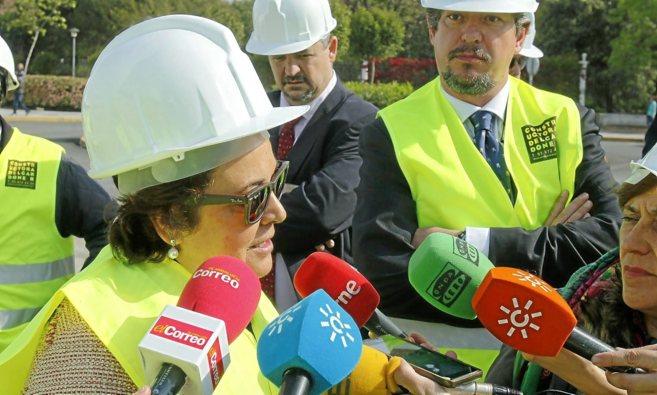 La delegada Carmen Castreño, durante una visita a unas obras.