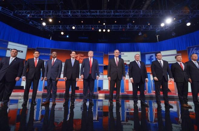Los diez candidatos republicanos mejor situados en los sondeos llegan...