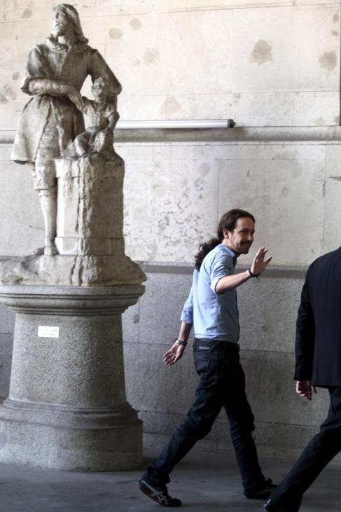 Iglesias, en un acto en el Ayuntamiento de Madrid el mes pasado.