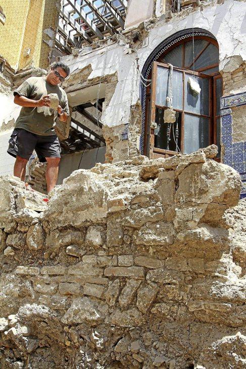 Roberto Ruiz, en la excavación de la calle Guzmán el Bueno.