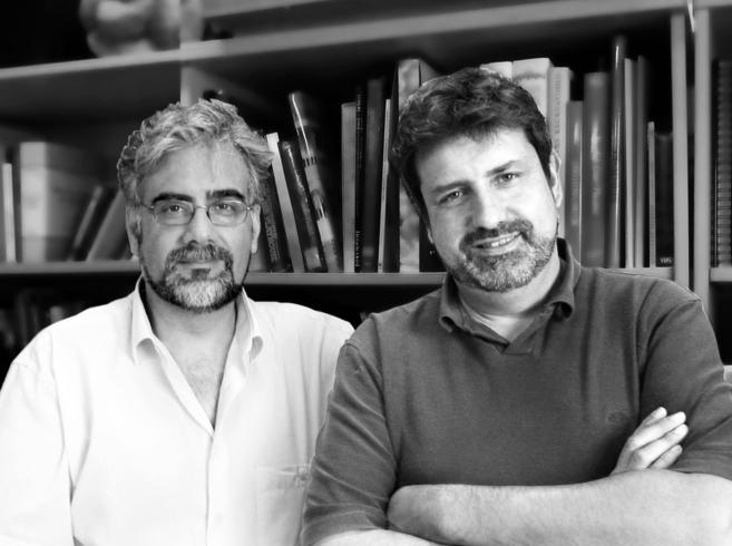 Los escenógrafos premiados, Juan Sanz y Miguel Ángel Coso.