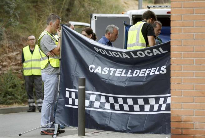 Escenario del crimen, en Castelldefels