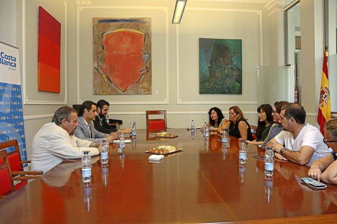El vicepresidente de la Diputación, Eduardo Dolón, en una reunión...