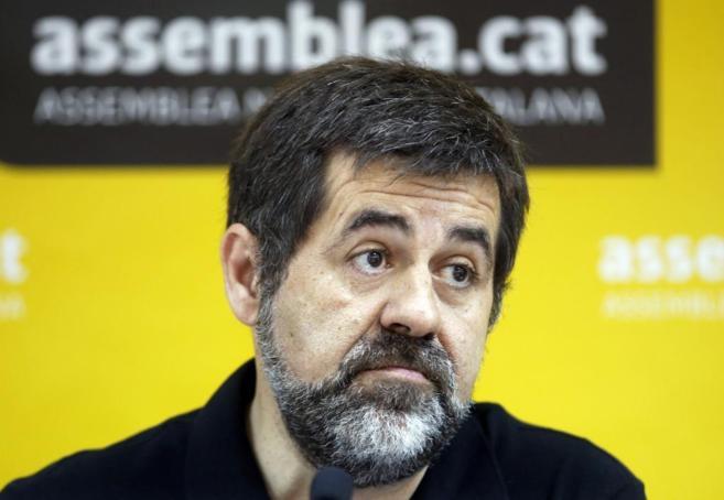Jordi Sánchez, presidente de la ANC, en rueda de prensa.