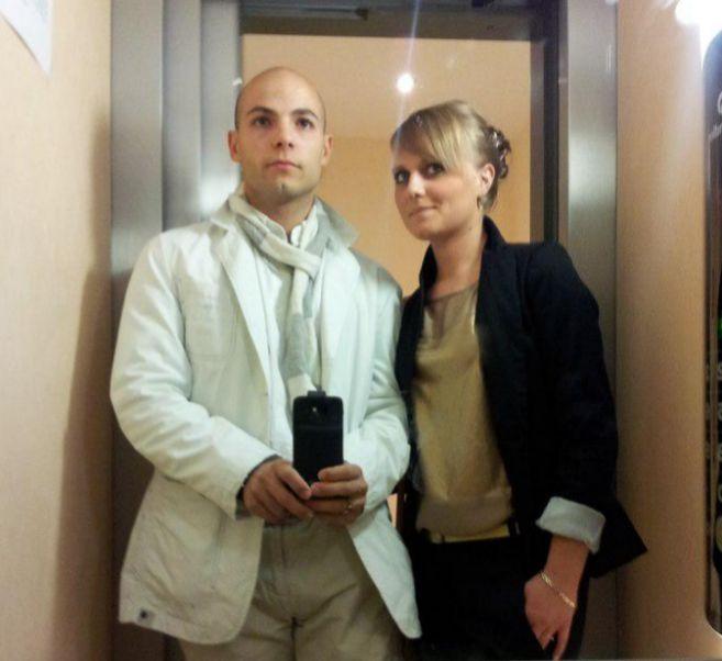El supuesto autor del doble crimen, Sergio Morate, junto a su ex...