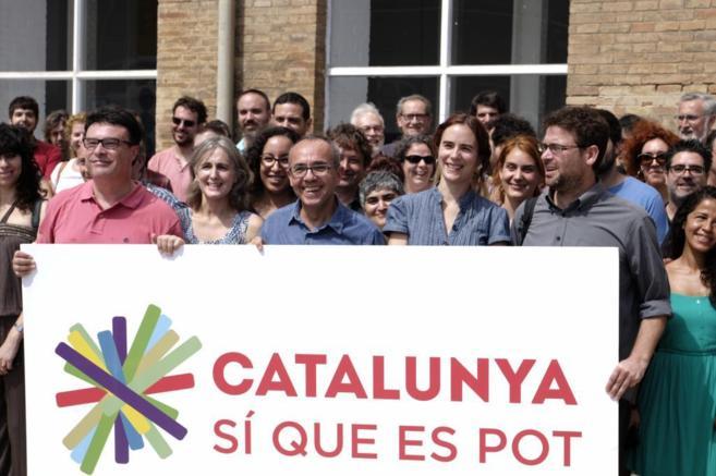 Presentación de Cataluña Sí que es Pot en Barcelona el pasado 19 de...