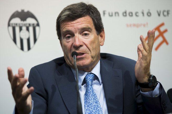 Aurelio Martínez, en una comparecencia como presidente de la...