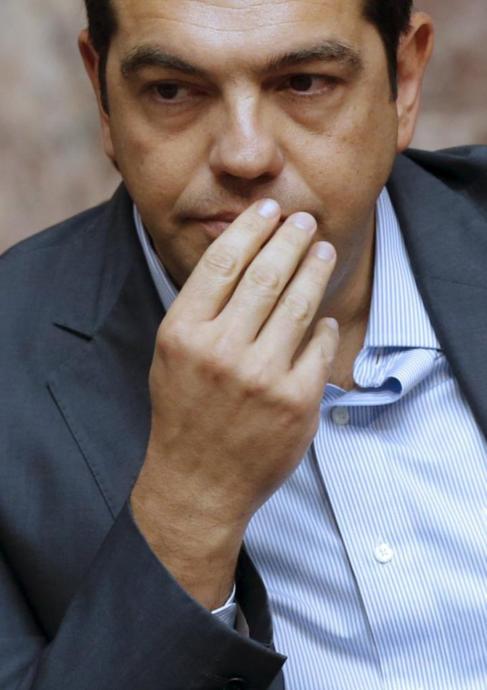 Alexis Tsipras durante la reunión del Parlamento del jueves por la...