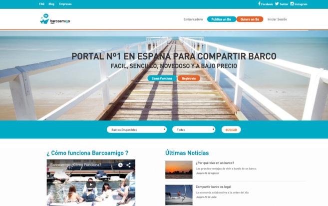 Imagen de la web de esta plataforma para compartir barcos.