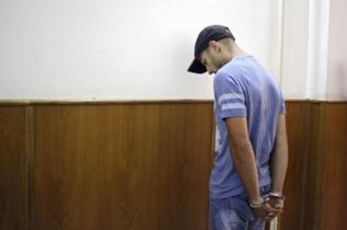 Sergio Morate, en las dependencias judiciales de Lugoj (Rumanía).