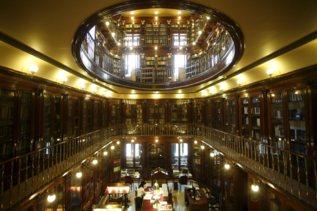 Panorámica de la Biblioteca del Congreso de los Diputados desde la...