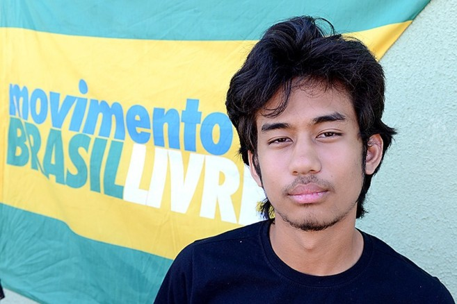 Kim Kataguiri, líder del Movimiento Brasil Libre.