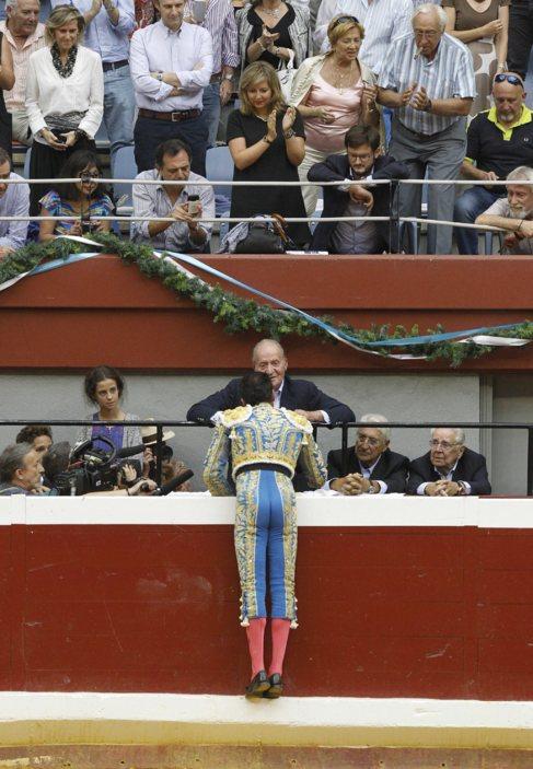 Don Juan Carlos, en San Sebastián el pasado jueves.